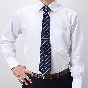 ワイシャツ 長袖 メンズ ワイドカラー