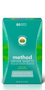 method dryer sheets