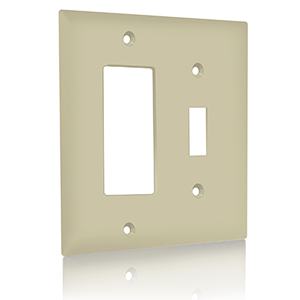 Enerlites Combination Toggle Switch Decorator Switch Wall Plate Size 2 Gang 4 50 X 4 57 Polycarbonate Thermoplastic 881131 I Ivory Amazon Ca Tools Home Improvement
