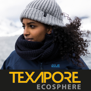 Texapore Ecosphere, sustainable, recycled, outdoor apparel, travel