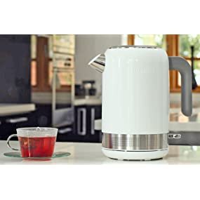 breville,brevil,kettle,toaster,gloss,white,stainless steel,