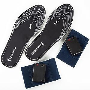 Calefacción Patentada para Calzado, Plantillas planas, Talla 36-45