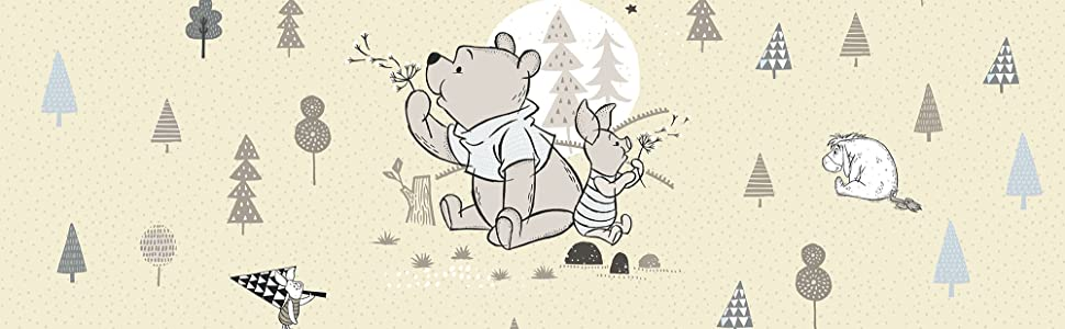 Komar - Disney - Fototapete WINNIE POOH BEST BEAR - 368 x 254 cm - Tapete,  Wand Dekoration, Winnie Puh, Ferkel - 8-4024