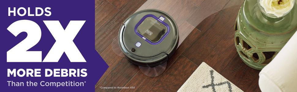 HRV420BP07 SMARTECH Lithium Pet Robotic Vacuum