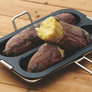 ドウシシャ 焼き芋プレート ガス火専用 ブラック レシピ付き LivE