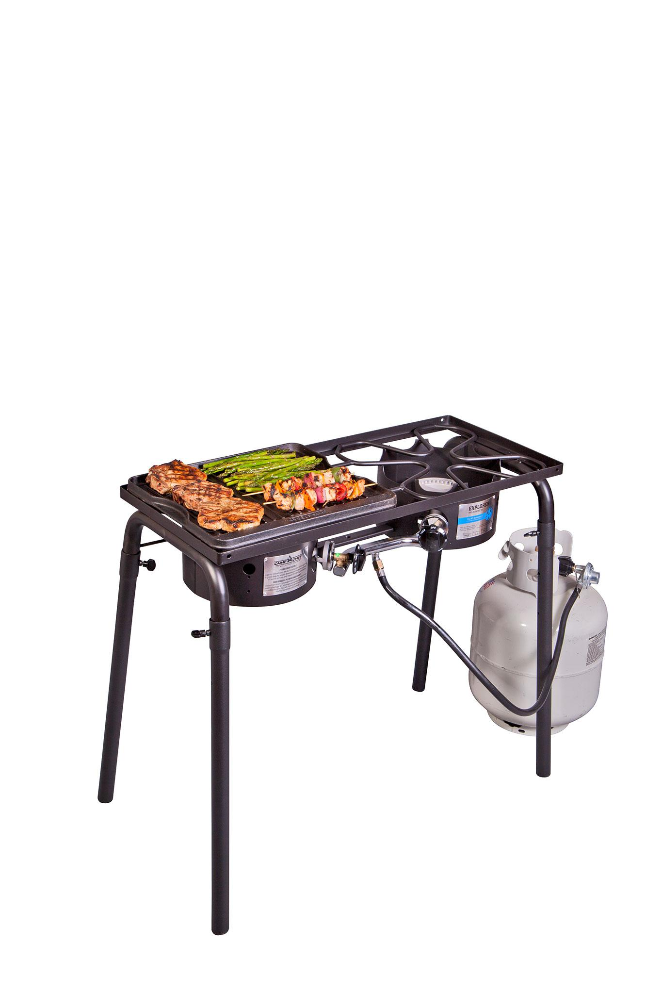 Amazon.com: Camp Chef CGG16B parrilla de hierro fundido pre ...