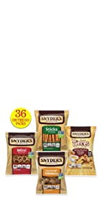 snyders pretzels variety packs multipacks single-serve snack bags on-the-go kids lunch lunchbox
