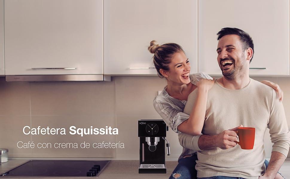 Solac S92011100 Ce4501 Squissita Cafetera, Doub Cream, Espresso y ...