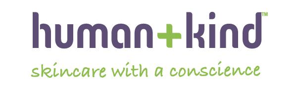 Human + Kind Logo, Tagline: Skincare with a Conscience