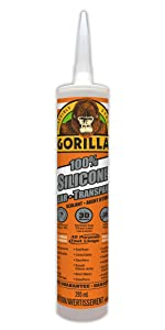 Gorilla clear silicone sealant cartride
