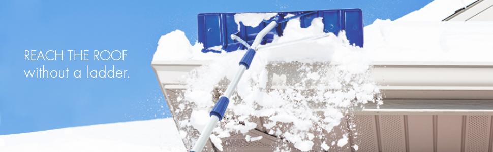Snow Joe Rj204m Telescoping Snow Shovel Roof Rake 21