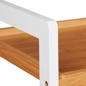 Relaxdays Estanter/ía de bamb/ú con 5 Niveles 190 x 45 x 40 cm sal/ón para apoyar para ba/ño Color Natural Cocina 1 Unidad