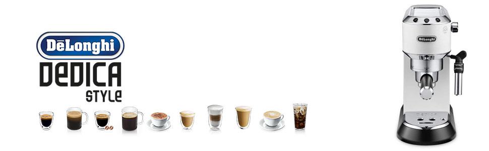 Dedica Delonghi Coffee machines white