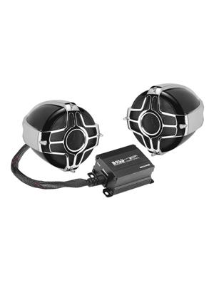 BOSS Audio Systems MC440B Motorcycle Speaker System - Bluetooth,  Weatherproof Speakers Amplifier, 2 3 Inch Speakers, 2 Channel Amplifier, 1  Volume