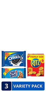 OREO, RITZ, & CHIPS AHOY! Snack Variety Pack, Family Size, 3 Packs