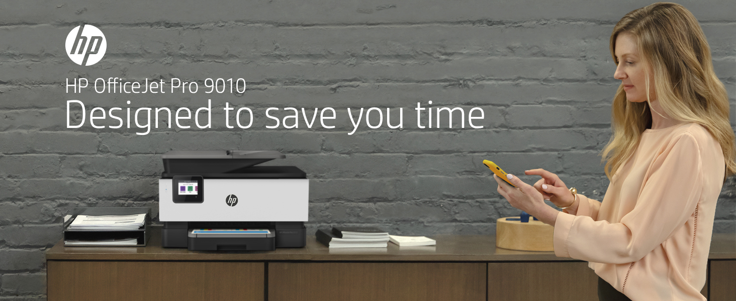 HP OfficeJet Pro 9010 all-in-one printer home office small business designed to save you time
