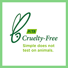 CRUELTY-FREE CERTIFIED BY PETA