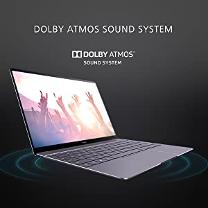 Dolby Atmos Sound System Huawei MateBook X Laptop