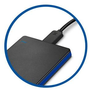 Con alimentación USB