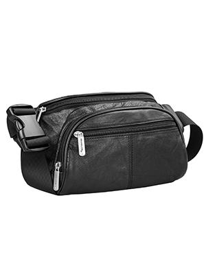 72305 RFID Leather Waist Pack