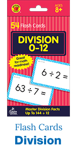 Division flash cards, 54 count