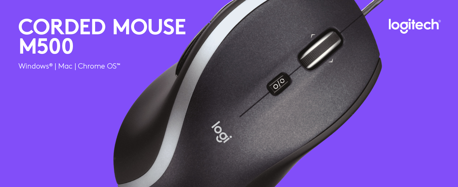 988e96643f8 Amazon.com: Logitech M500 Corded Mouse – Wired USB Mouse for ...