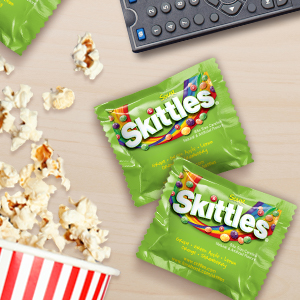 Give movie night candy a twist with delicious sour Skittles Candy.