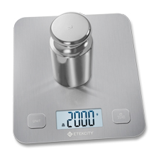 With 1g increment, this scale delivers accurate results