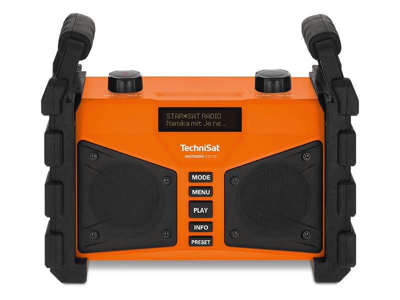 Technisat Digitradio 230 Od Dab Baustellenradio Dab Dab Ukw Usb Aux In Bluetooth Leistungsstarker Akku Favoritenspeicher 2 X 6 Watt Stereo Lautsprecher Orange Heimkino Tv Video