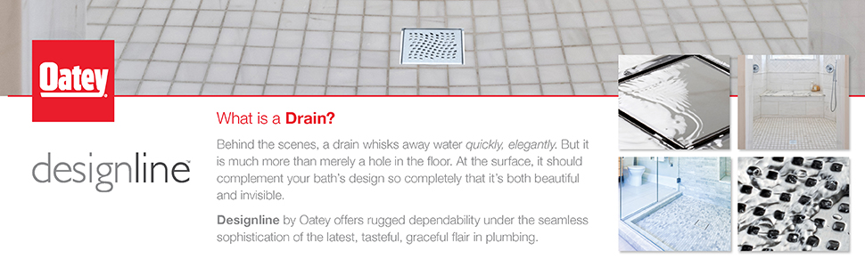 designline design line drain shower bathroom floor water residential decorative finish square