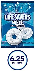 LIFE SAVERS Pep O Mint Sugarfree Mints