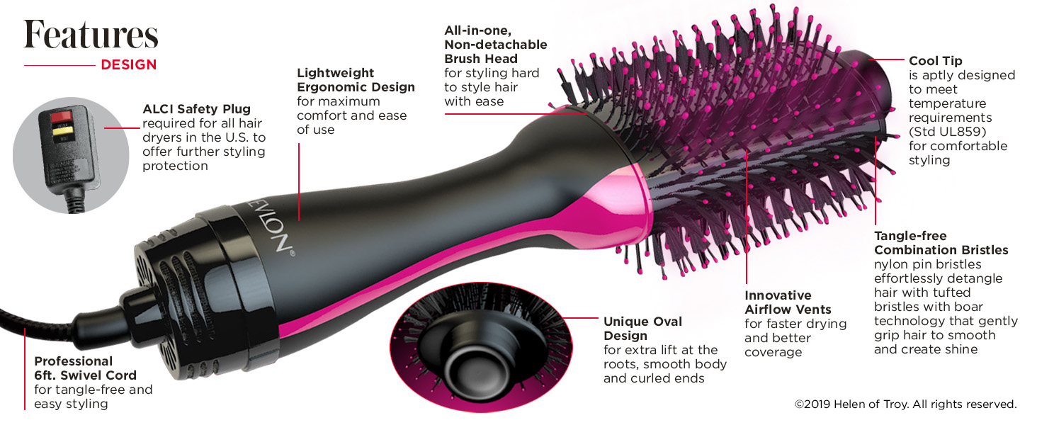 Revlon Brush Hair Dryer Features