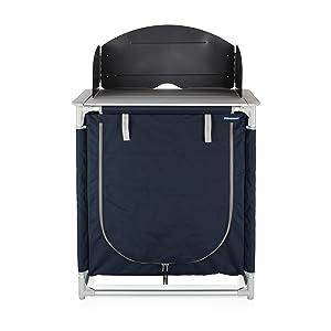 Cocina de camping Valencia Campart Travel KI-0752 – Con paravientos – Bolsa de almacenamiento incluida
