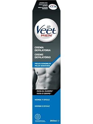 Veet for Men Crema Depilatoria Corporal para Hombre, Piel Normal, 200 ml: Amazon.es