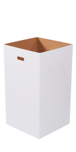 50 Gallon Plain Corrugated Trash Cans with Hand Holes