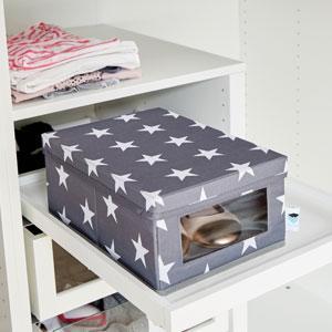 store it 670988 xl aufbewahrungsbox mit klappdeckel storage box kleiderschrank aus rei festem. Black Bedroom Furniture Sets. Home Design Ideas