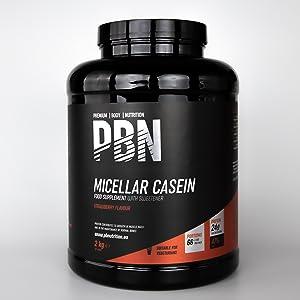PBN - Premium Body Nutrition PBN - Caseína micelar, 2 kg (sabor fresa)