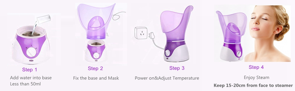 Home Warm Mist Facial Steamer Hot Mist Moisturizing Cleansing Pores Face Steamer Sprayer Humidifier