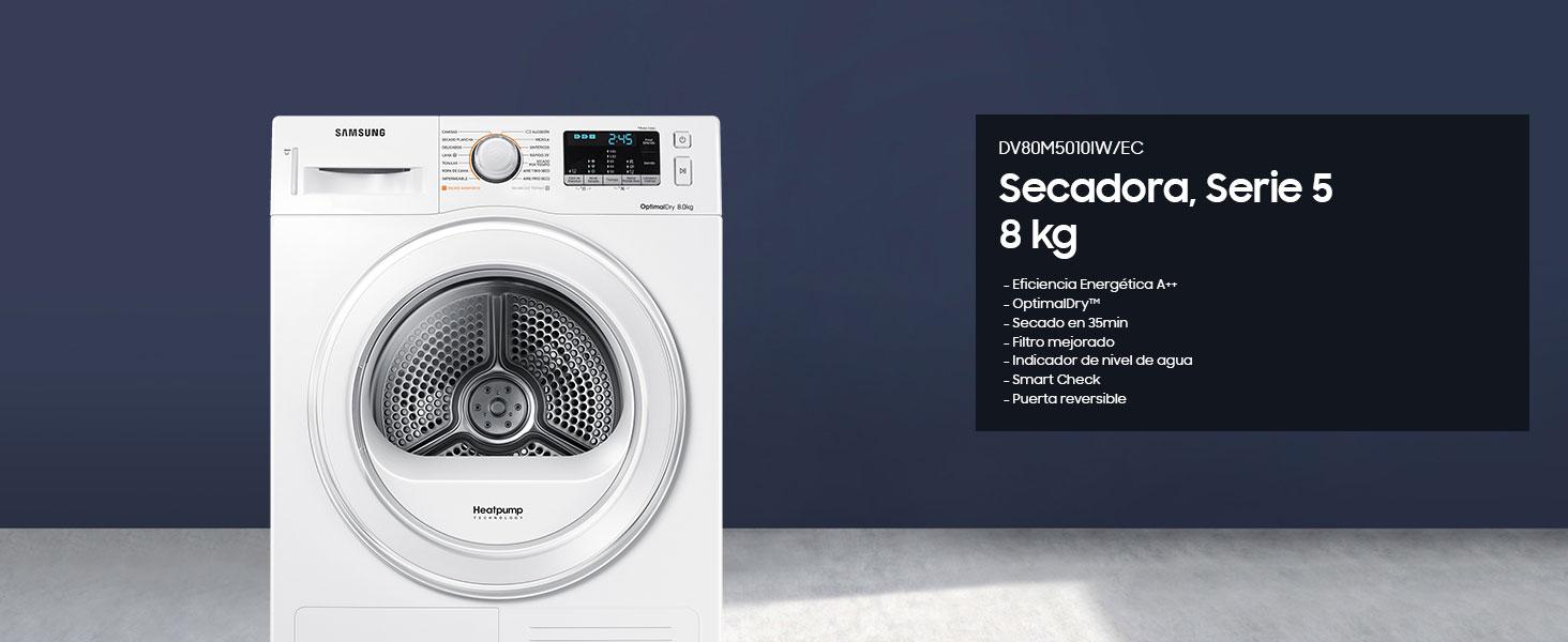 Secadora de condensación Samsung DV80M5010IW: 406.41: Amazon.es ...