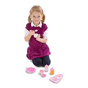 Baby;doll;mommy;house;pretend;role;play;food;bottles;bib