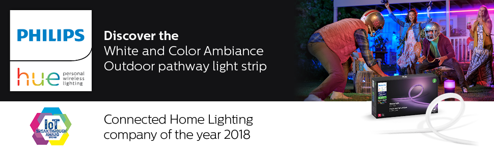 hue outdoors; outdoor lightstrip; hue outdoor lightstrip; white and color ambiance lightstrip; light