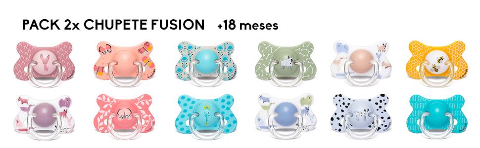 Suavinex - Pack 2 chupetes para bebés +18 meses. con tetina ...