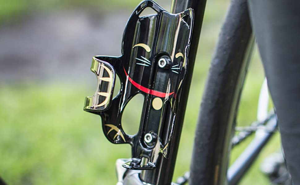 Portland Design Works The Lucky Cat cage bottle cage black