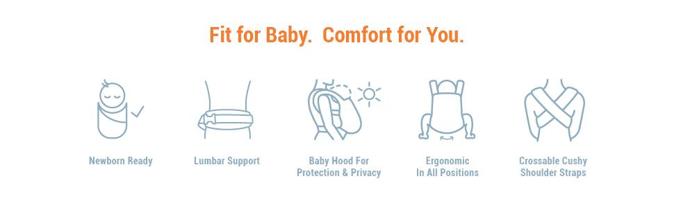 Amazon Com Ergobaby Adapt Baby Carrier Infant To