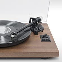 mbeat, mb-pt-28, hi-fi turntable with MMC stylus detail