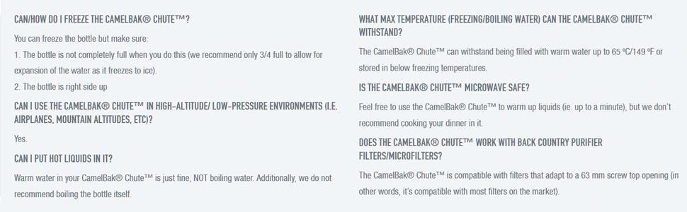 Camelbak; Chute 1L; Charcoal; Camel Bak; camelback; water bottle; hiking; outdoors; camping