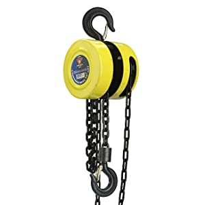 Cocoarm 2T hand tools chain hoist chain hoist chain hoist 3 meter lifting height with mechanical load brake Apply to workshop garage factories etc Blue