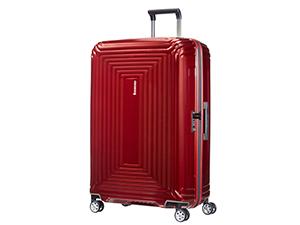 neopulse; valise legere; spinner 75; grande valise; valise curv; valise rigide; valise metallic red