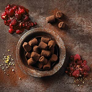raspberry popping candy cocoa dusted truffles monty bojangles chocolate box luxury gift delicious