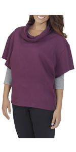 Essentials, French Terry, Cowl Neck, pullover, ladies, comfy